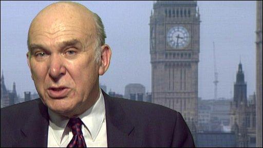 Liberal Democrat Treasury spokesman Vince Cable