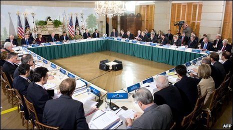 Bipartisan meeting on healthcare reform at Blair House, Washington