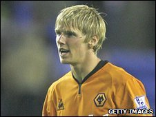 Wolves striker Andy Keogh