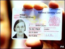 Meg Hillier's identity card