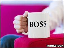 Mug with a one word job title - boss