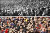 Fans from 100 years ago and today