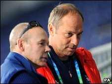 GB director of Olympic performance Sir Clive Woodward and Sir Steve Redgrave
