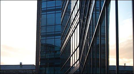 Sun on the Roland Levinsky Building