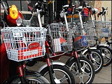Electric bikes on sale in Beijing