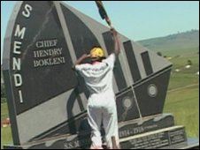 Commeration stone in South Africa