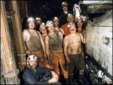 Miners at Hem Heath Colliery