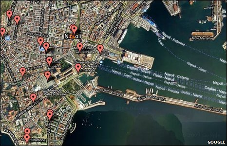 Google Map of Partenope City/Naples