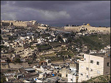 Jerusalem Old City, from East Jerusalem, silwan