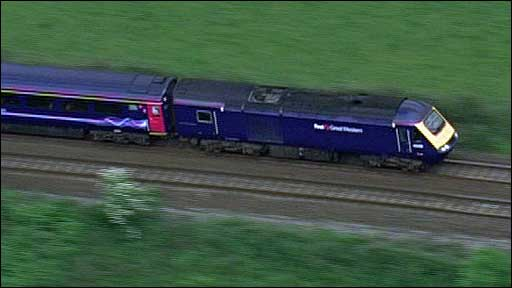Train in the Thames Valley