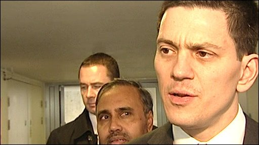 Foreign Secretary David Miliband