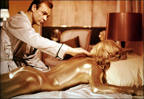 Goldfinger, with Sean Connery and Shirley Eaton
