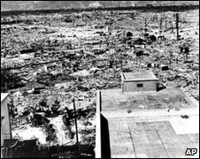 Strategic Bombing Survey picture of Hiroshima in 1945