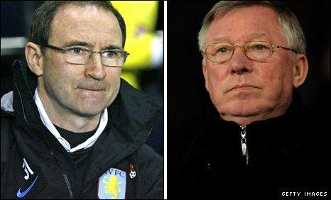 Martin O'Neill (left) and Sir Alex Ferguson