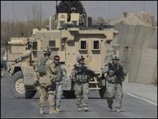 US soldiers in Kandahar