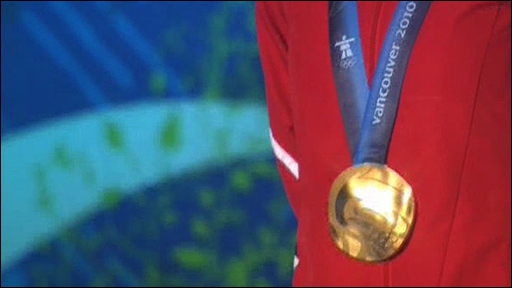 Amy Williams gold medal for Britain