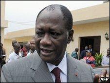 Ivory Coast opposition leader Alassane Ouattara