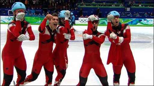 Canada's men's relay team