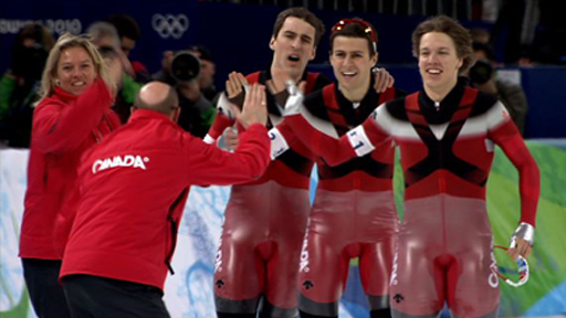 Canada's men's speed skating pursuit team
