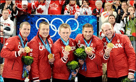 Canada's men's curlers show off their medals