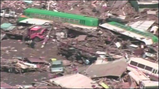 Chile's damaged caost in Dichato