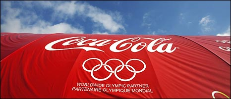 Coca-Cola is one of the official Olympic sponsors