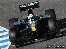 Heikki Kovalainen in the Lotus