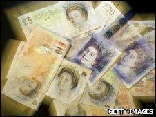 Generic UK bank notes