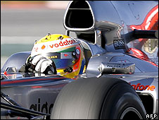 Lewis Hamilton in the McLaren