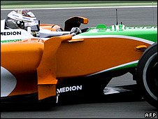 Adrian Sutil in the Force India
