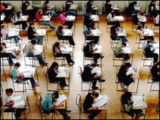 Generic pupils sitting exam