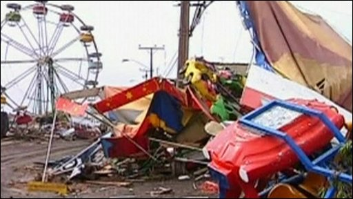 Fairground damage