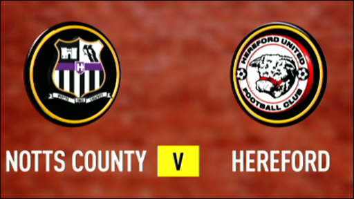 Notts County 5-0 Hereford