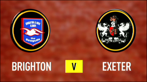 Brighton and Exeter team badges
