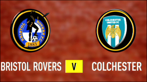 Bristol Rovers and Colchester team badges