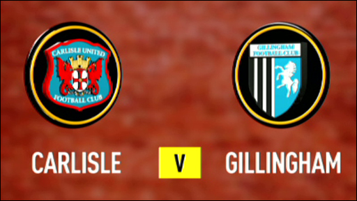 Carlisle and Gillingham team badges