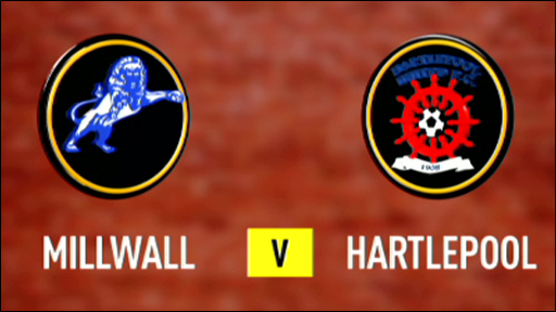Millwall and Hartlepool team badges