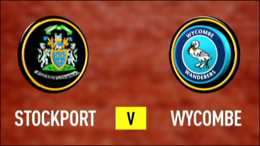 Stockport and Wycombe team badges