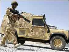 Snatch Land Rover in Helmand