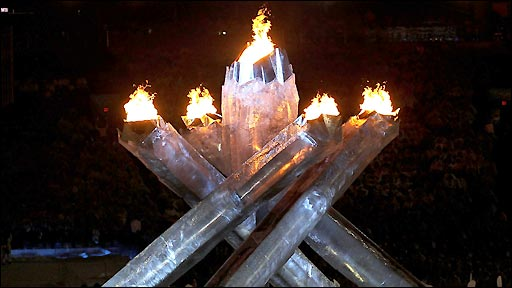 Winter Olympic flame