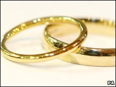 Wedding rings - Copyright PA