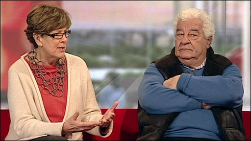 Prue Leith and Antonio Carluccio