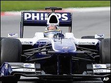 Nico Hulkenberg's Williams at the Barcelona test