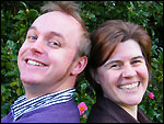 BBC Radio Devon presenters David Sheppard and Jo Loosemore