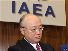 Yukiya Amano begins his address to the IAEA