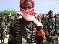 Al-Shabaab fighters in Somalia
