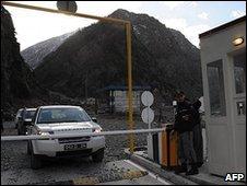 Georgian-Russian border at Verkhny Lars