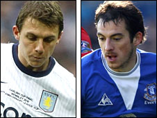 Stephen Warnock and Leighton Baines