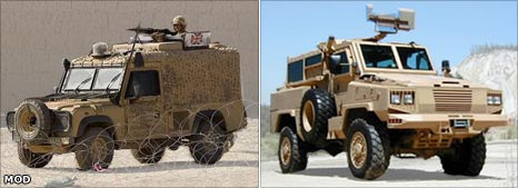 Snatch Land Rover and RG-31