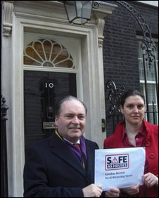 Councillor Ian Wingfield and Emily Twinch